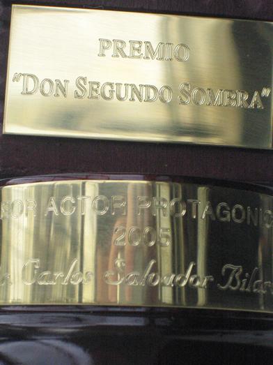 Don Segundo Sombra para Carlos Bilardo - Detalle 2